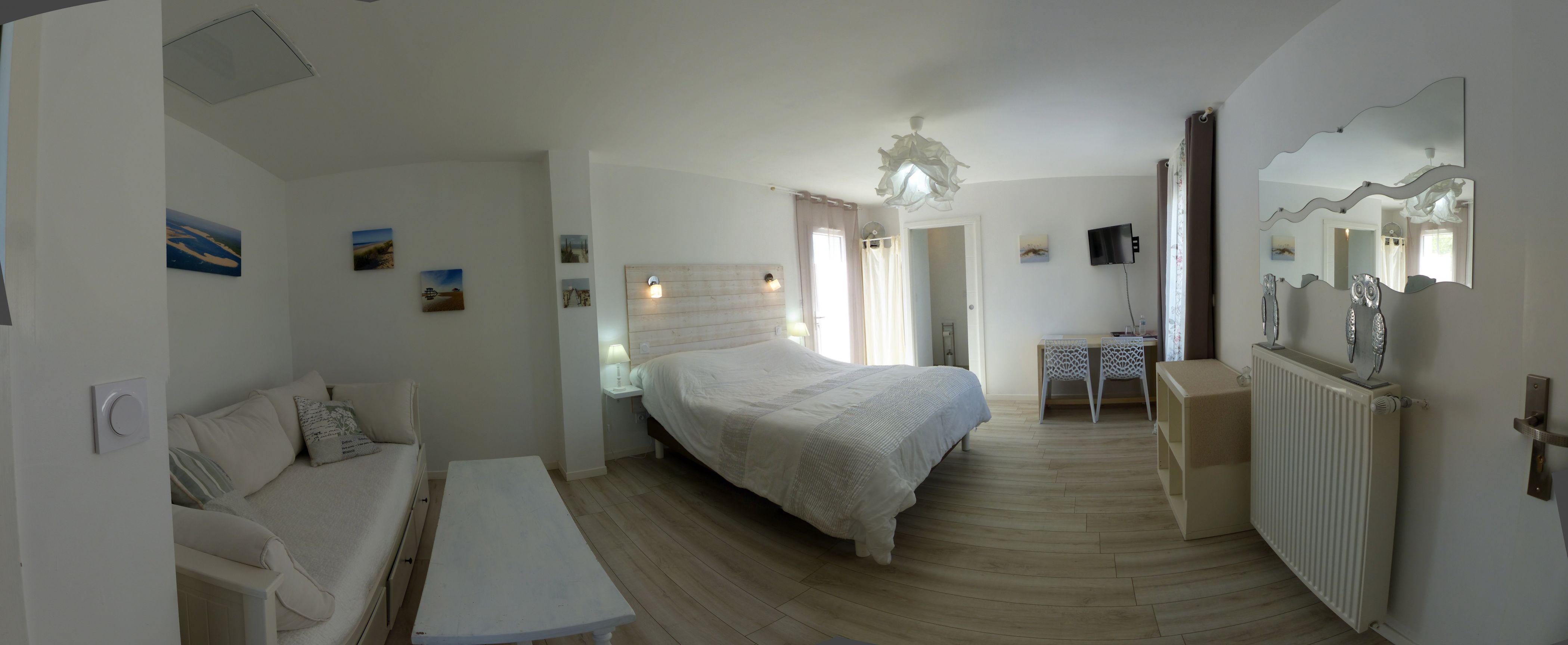 Vue panoramique de la chambre familiale Cap Ferret